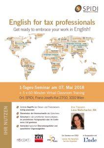 SPIDI Training English for tax professionals - Coverbild