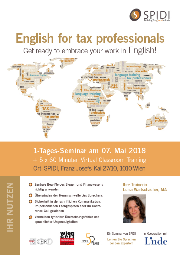 SPIDI Training English for tax professionals - Coverbild