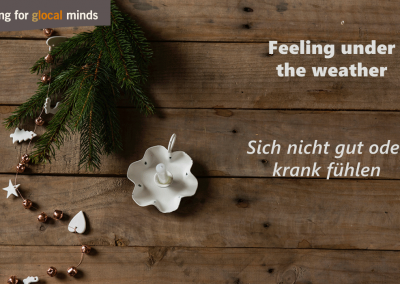 SPIDI Adventkalender Feeling under the weather - Sich nicht gut oder krank fühlen