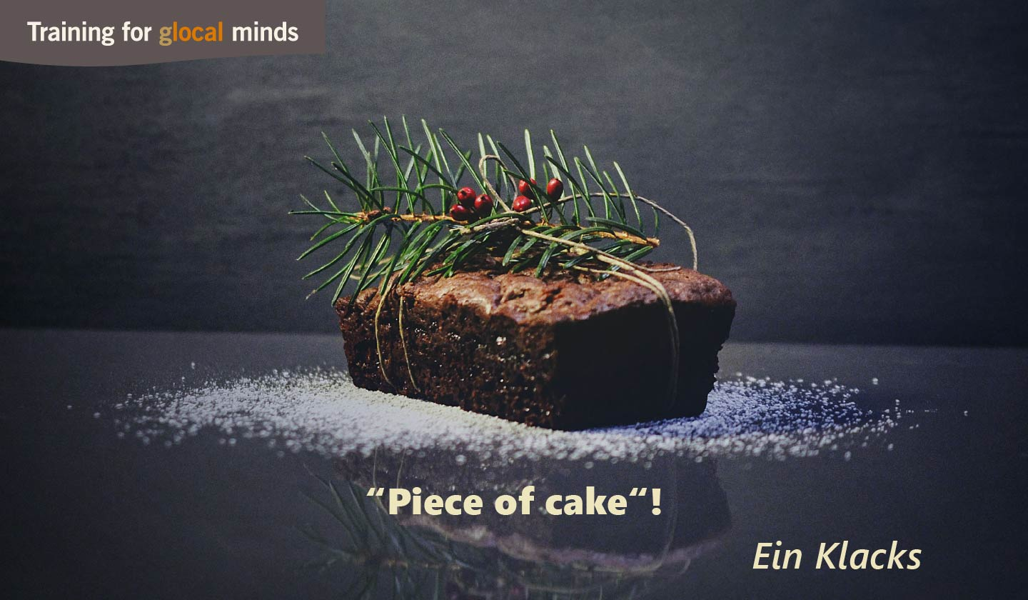 "SPIDI Adventkalender Tür 1: ""Piece of cake""! (ein Klacks)"