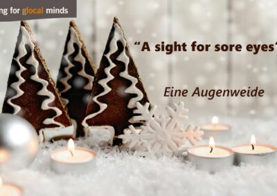 "SPIDI Adventkalender Tür 10: ""A sight for sore eyes"" - eine Augenweide"