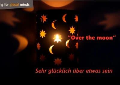 """SPIDI Adventkalender Tür 12: """"Over the moon"""" (sehr glücklich über etwas sein)"""