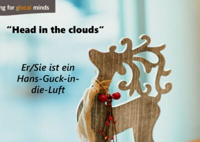 "SPIDI Adventkalender Tür 14: ""Head in the clouds"" (Er/Sie ist ein Hans-Guck-in-die-Luft)"