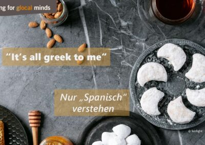 "SPIDI Adventkalender Tür 16: ""That's all greek to me"" (nur ""Spanisch"" verstehen)"