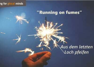 """SPIDI Adventkalender Tür 19: """"Running on fumes"""" (aus dem letzten Loch pfeifen)"""