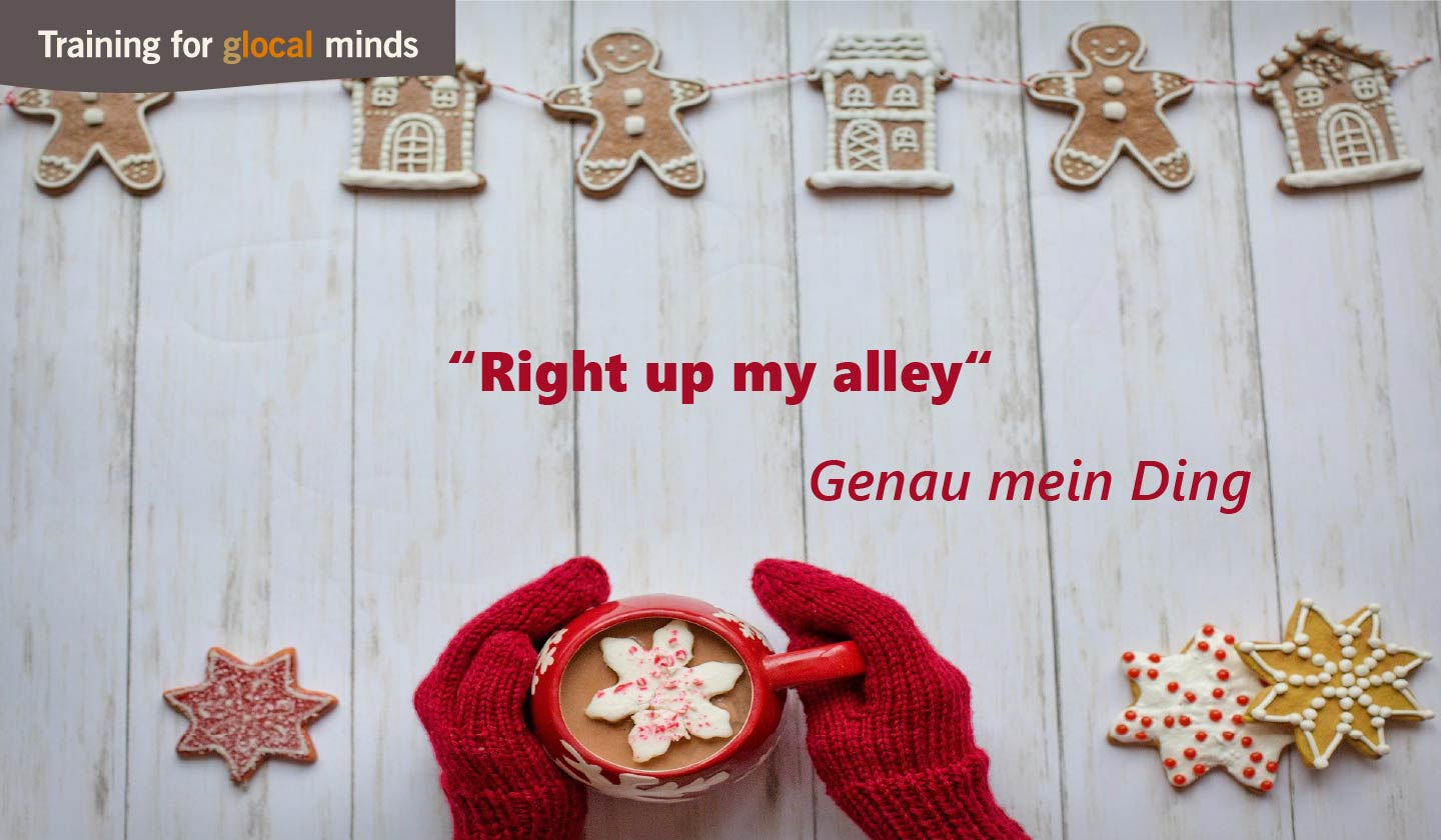 "SPIDI Adventkalender Tür 2: ""Right up my alley"" (genau mein Ding)"