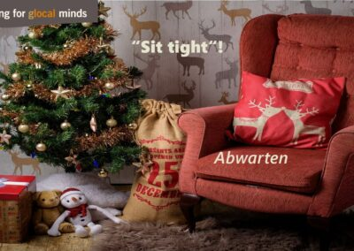 "SPIDI Adventkalender Tür 23: 1. ""Sit tight"" (Abwarten)"
