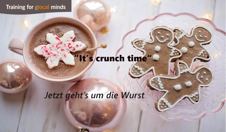 """SPIDI Adventkalender Tür 5: """"It's crunch time"""" (jetzt geht's um die Wurst)"""